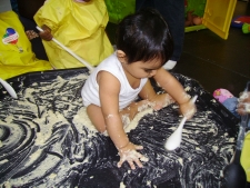 Getting messy at nursery!